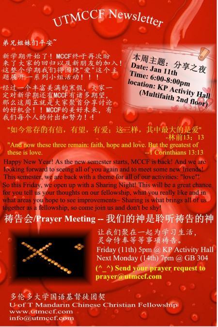 UTMCCF Jan11 Newsletter
